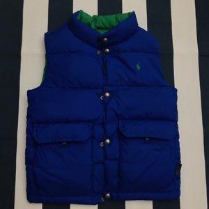 Ralph Lauren Boy Youth Reversible Down Puffer Vest